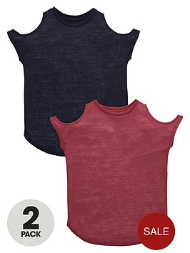 v-by-very-girls-cut-out-shoulder-t-shirts-2-pack