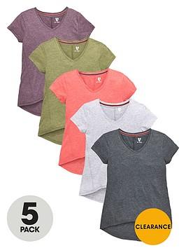 v-by-very-girls-v-neck-t-shirts-5-pack