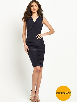 ax-paris-sleeveless-wrap-front-ruched-midi-dress