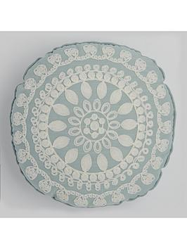 round-floral-geonbspapplique-cushion-in-duck-egg
