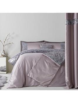 sequin-floral-lace-border-duvet-cover-set-grey