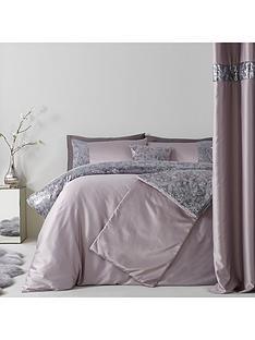 sequin-floral-lace-border-duvet-set-grey