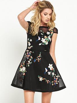 guess-lyananbspdragan-and-flowers-mesh-dress