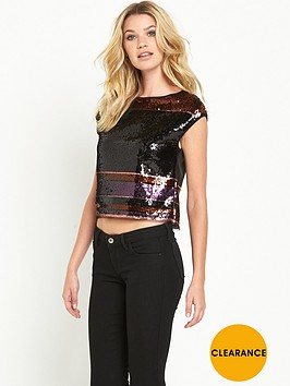guess-rivtanbspsequin-stripe-top