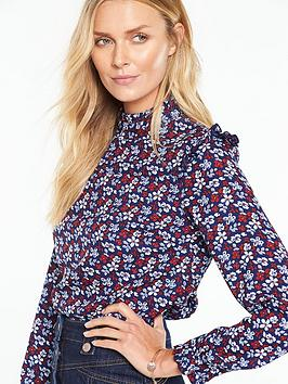 v-by-very-printed-ruffle-long-sleeve-printed-blouse