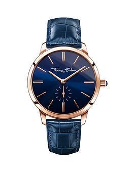 thomas-sabo-eternal-women-blue-dial-rose-tone-leather-strap-ladies-watchnbspplus-free-diamond-bracelet