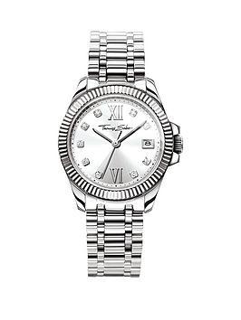 thomas-sabo-divine-silver-tone-dial-stainless-steel-bracelet-ladies-watchnbspplus-free-diamond-bracelet
