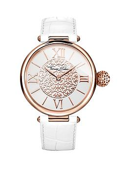thomas-sabo-karma-white-dial-rose-tone-case-white-leather-strap-ladies-watch