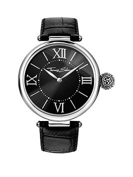 thomas-sabo-karma-black-dial-black-leather-strap-ladies-watch