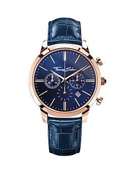 thomas-sabo-eternal-rebel-blue-dial-chronograph-rose-tone-mens-watchnbspplus-free-diamond-bracelet