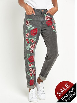 glamorous-embroidered-floral-jeans-grey