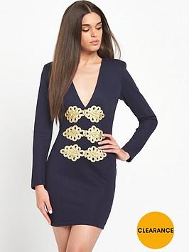rare-plunge-trim-detail-dress