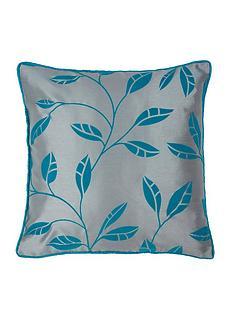 Leaf Trail Flock Cushion Covers Pair