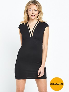 river-island-jersey-plunge-mini-dress