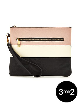 v-by-very-mixed-stripe-pouch-bag