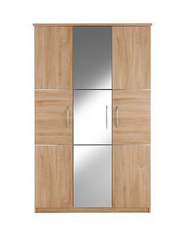 buckingham-3-door-mirrored-wardrobe