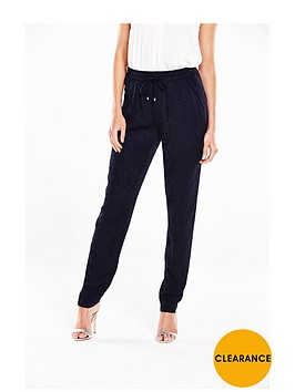 v-by-very-floral-jacquard-tapered-trousers-navynbsp