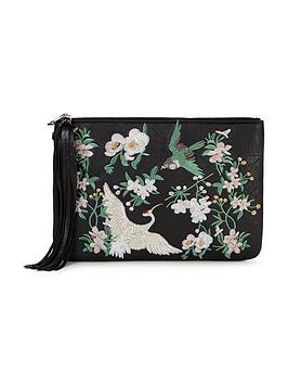 miss-selfridge-embroidered-clutch-bag