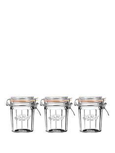 kilner-facet-jars-025-litre-set-of-3