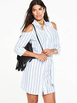 v-by-very-coldshoulder-shirt-dress