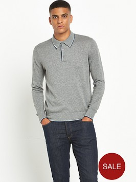 peter-werth-contrast-tipped-knitted-long-sleeve-polo