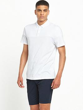river-island-ribbed-panel-polo-shirt