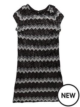 v-by-very-girls-sequined-zigzag-stripe-dress