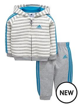 adidas-baby-boy-stripe-fleece-suit