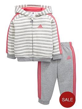 adidas-baby-girls-stripe-fleece-tracksuit
