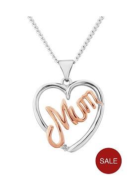 keepsafe-sterling-silver-rose-gold-plated-mum-heart-pendant