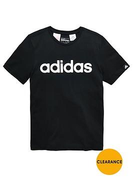 adidas-older-boys-linear-logo-tee
