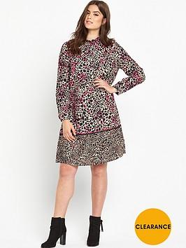v-by-very-curve-animal-border-print-dress