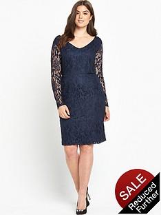 so-fabulous-long-sleeve-lace-dress-navy