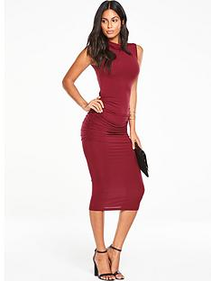 v-by-very-roll-neck-ruchednbspjersey-midi-dress