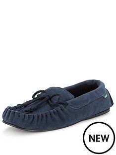dunlop-suede-moccasin-slipper-navy