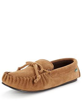 dunlop-suede-moccasin-slipper-chestnut