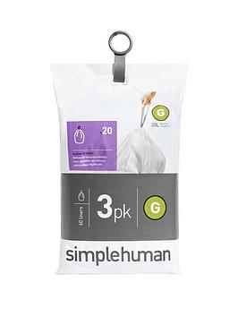 simplehuman-3-packs-of-20-bin-liners-60-liners-total-ndash-code-g
