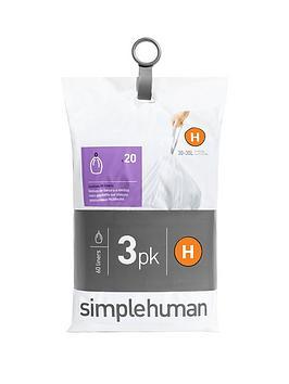 simplehuman-3-packs-of-20-bin-liners-60-liners-total-ndash-code-h
