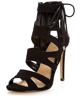 lipsy-caged-lace-up-sandal