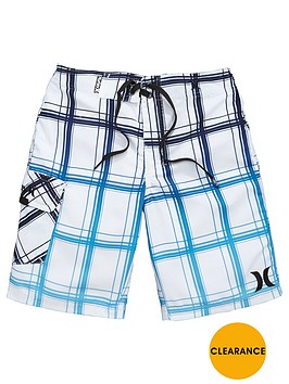 hurley-older-boys-check-swim-shorts