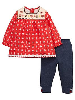 ladybird-baby-girls-woven-dress-and-leggings