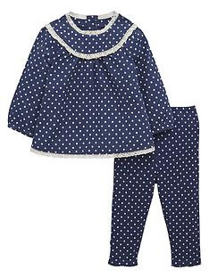 ladybird-baby-girls-woven-spotty-top-and-leggings-set