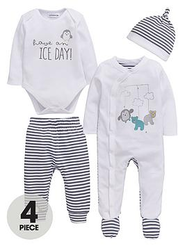 ladybird-baby-unisex-penguin-stripe-layette-set-4-piece