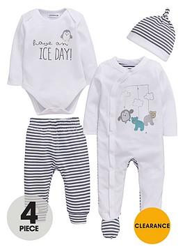 ladybird-baby-unisex-penguin-stripe-layette-set-4-piece