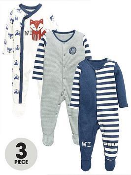 ladybird-baby-boys-foxstripe-sleepsuitsnbsp3-pack