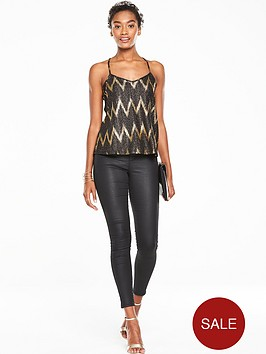 v-by-very-zignbspzag-metallic-cami-top