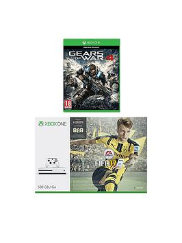 xbox-one-s-500gb-console-with-fifa-17-and-gears-of-war-4-with-optional-extra-controller-andor-12-months-live-gold