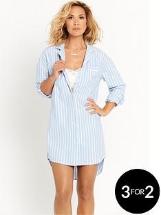 myleene-klass-boyfriend-night-shirt-and-bralette-blue-and-white
