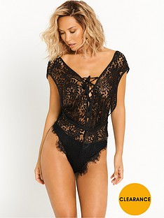 myleene-klass-luxury-lace-teddy-black