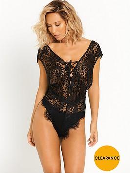 myleene-klass-luxury-lace-teddy-black